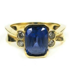 Le Vian - Ring - Diamond & Tanzanite - 0.21 ct Diamond 3.23 ct 14K Gold