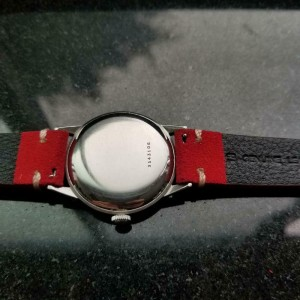 ZENITH Men's 18j Sporto Hand-Wind 35mm Vintage Watch, c.1960s Swiss LV869RED