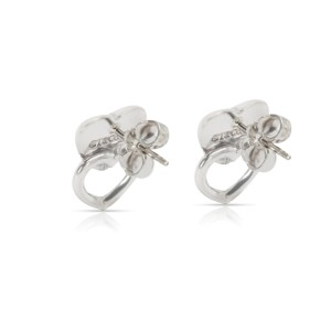 Tiffany & Co. Double Heart Puff Fashion Earring in  Sterling Silver