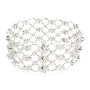 Kwiat Jasmine Diamond Bracelet in 18KT White Gold 5.28 CTW