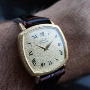 Men's Piaget 18k Solid Gold ref.13406 Automatic Dress Watch c.1980s Swiss MS209