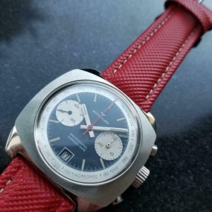 Men's Wittnauer Professional Chrono-Date Hand-Wind 41mm, c.1970s Vintage MX92RED