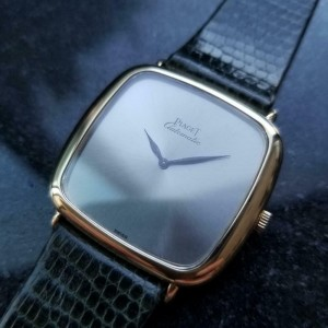 Men's Piaget 18k Solid Gold Automatic dress watch c.1980s Swiss Vintage LV862GRY