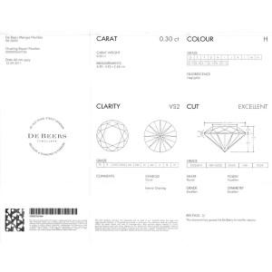 DeBeers Promise Diamond Stud Earring in 18K White Gold 0.68 CTW