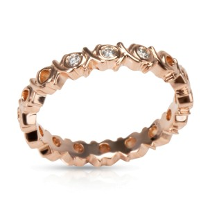 Tiffany & Co. Paloma Picasso Graffiti Diamond Band in 18K Rose Gold 0.06 CTW