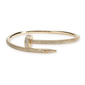 Cartier Juste un Clou Diamond Bracelet in 18K Yellow Gold 2.26 CTW