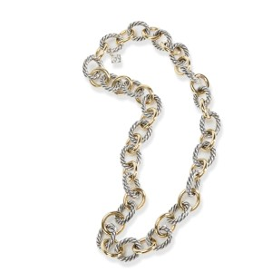 David Yurman Cable Chain Necklace in 18K Yellow Gold/Sterling Silver