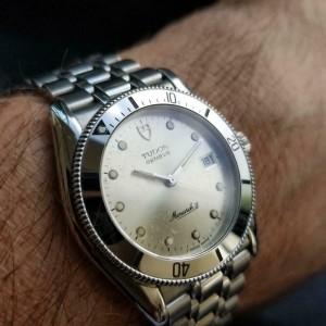 Men's Tudor Geneve Monarch II Ref.15650 Quartz Diver w/Date, c.1980s LV952