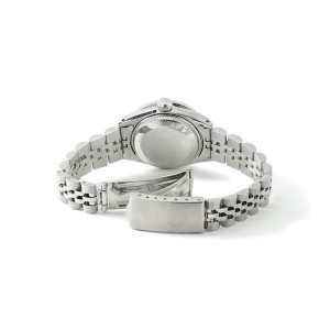 Rolex Datejust 26mm Steel Jubilee Diamond Watch with White Dial