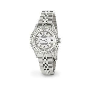 Rolex Datejust 26mm Steel Jubilee Diamond Watch with Ivory Dial