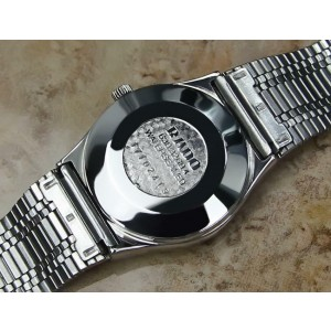 Rado Voyager Vintage 1970s Stainless Unisex Automatic 31mm Swiss Watch EX4