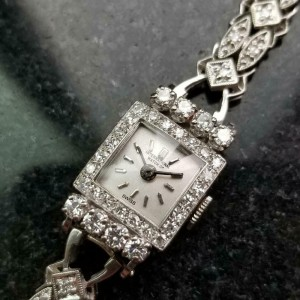 Ladies IWC 13mm 18k White Gold with Diamond Cocktail Dress Watch, c.1920s MA160