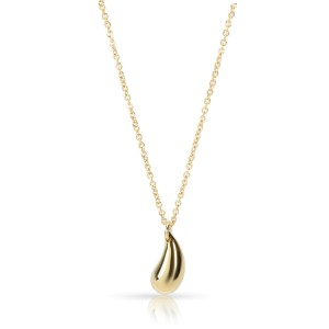 Tiffany & Co. Elsa Peretti Teardrop Necklace in 18K Yellow Gold