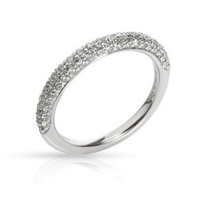Gabriel & Co. Pave  Diamond Wedding Band in 18K White Gold 0.36 CTW