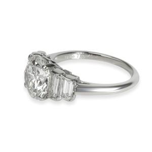 Vintage Cartier Diamond Engagement Ring in  Platinum H VS2 3.23 CTW
