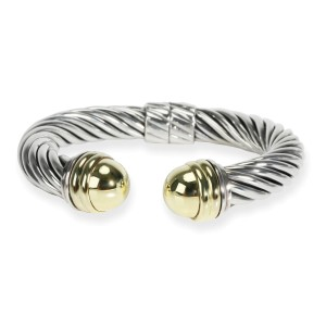 David Yurman Cable Bracelet in 14K Yellow Gold/Sterling Silver