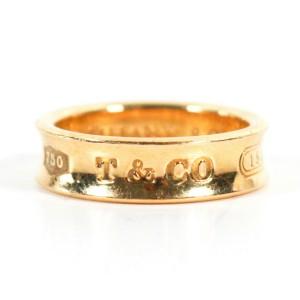 Tiffany Ring 1837 18K Yellow Gold Engraved Logo - US 7.75