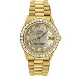 Rolex President Datejust Midsize 31MM White MOP Diamond Dial/Bezel