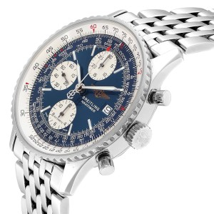 Breitling Navitimer II Blue Dial Chronograph Steel Mens Watch A13322