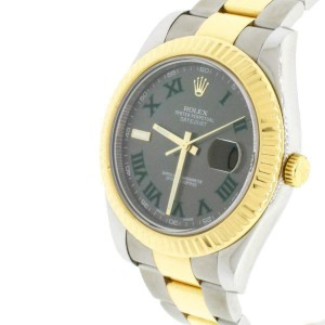 Rolex Datejust II 41MM 2-Tone Watch Grey Dial With Roman Numerals B&P 116333