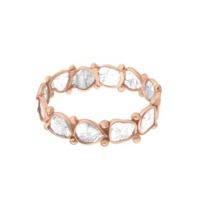 Rock & Divine Dawn Collection Luminary Diamond Eternity Band in 18K Rose Gold