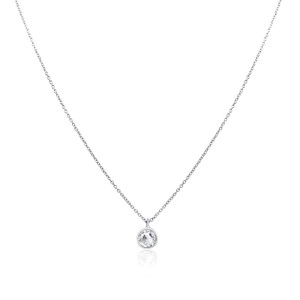 Rock & Divine Dawn Collection Daylight Diamond Necklace 18K White Gold 0.50 CTW
