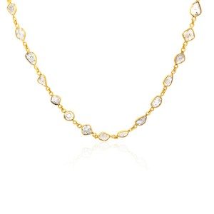 """Rock & Divine Dawn Collection Sun Stream  18"""" Necklace in 18K Yellow Gold 5.58ct"""