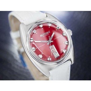 Mens Aureole Day Date Stainless Steel Automatic 35mm, c.1970s Swiss DN153