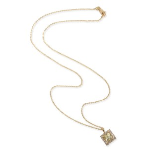 GIA Certified Diamond Necklace in 14K Yellow Gold W-X VS2 1.38 CTW