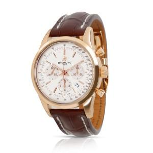 Unworn Breitling Transocean Chronograph RB015212/G738 Men's Watch 18kt Rose Gold
