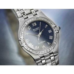 Ladies Elgin La Defense 24mm Quartz Diamond Dress Watch, c.2000s Swiss J6619