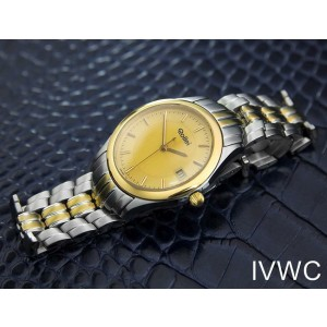 Mens Midsize/Unisex Rollei 32mm Gold Plated Quartz Dress Watch, c.1990s J7173