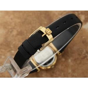 Ladies Leonard 24mm Gold-Plated Quartz Dress Watch w/Date, c.1990s Swiss J836
