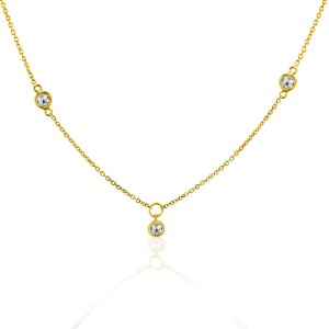 Rock & Divine Dawn Collection Sunshine Diamond Necklace in 18K Yellow Gold
