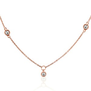 Rock & Divine Sunshine Necklace Diamond Necklace in 18K Rose Gold F VS 0.30 CTW