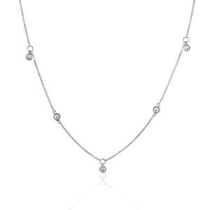 Rock & Divine Dawn Collection Sunshine Diamond Necklace in 18K Gold 0.30 CTW