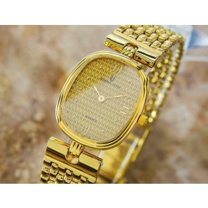 Ladies Universal Geneve 523.612 20mm Gold-Plated Quartz Dress Watch, c.2000s L61