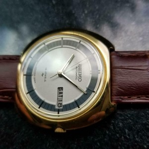 Mens Seiko Ref.7006-8029 39mm Gold-Plated Automatic, c.1970s Vintage Japan LA72