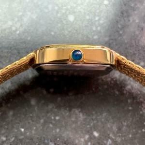 Ladies Elgin 21mm Gold-Plated Diamond Dress Watch, c.1980s Swiss Elegance LV252