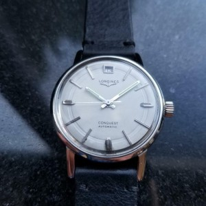 Mens Longines Conquest 9024 35mm Automatic w/Date, c.1960s Swiss Vintage LV592