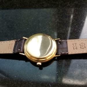 Mens Movado Kingmatic S 34mm 14k Gold Automatic, c.1960s Swiss Vintage GP9BRN