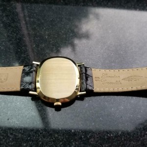 Mens Omega 33mm 14k Gold Hand-Wind Dress Watch, c.1970 Vintage Swiss LV75
