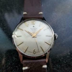 Mens Zenith Sporto 35mm cal.120 hand-Wind Dress Watch, c.1960s Vintage LV869