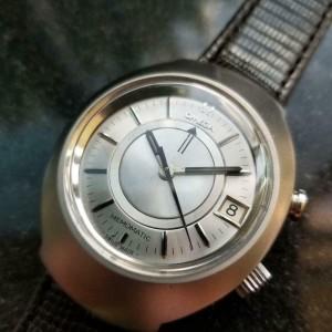 Mens Omega Memomatic Ref.166.071 40mm Date Automatic w/Alarm, c.1970s LV648BRN