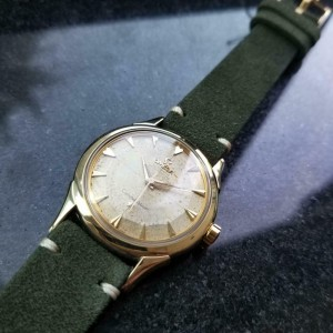 Mens Omega Constellation 35mm Gold-Capped Automatic, c.1950s Vintage LV649GRN