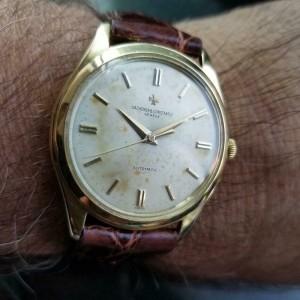 Mens Vacheron Constantin Geneve 36mm 18k Gold Dress Watch, c.1950s Swiss LV900