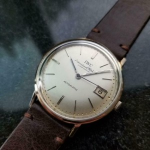 Mens IWC cal.8541 34mm 18k White Gold Date Automatic, c.1960s Vintage LV956