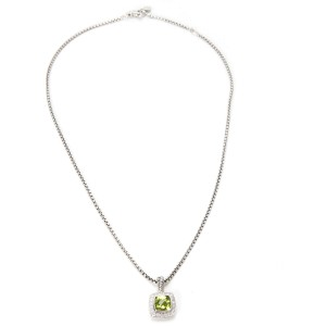 David Yurman Prasiolite & Diamond Pendant in Sterling Silver (0.20 CTW)
