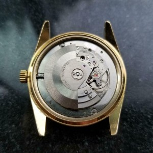 Mens Royce Leadership 1100 38mm Day Date Automatic c.1970s Vintage LV846GRN