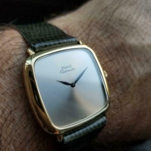 Mens Piaget 32mm 18k Solid Gold Automatic dress watch c.1980s Swiss LV862GRY